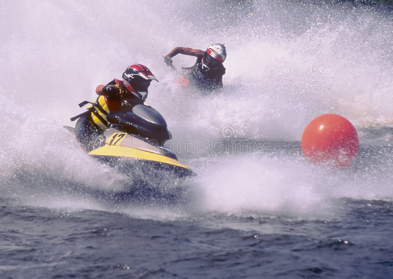 Jetski duo stock photo