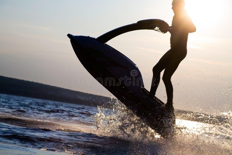 jetski skoków mężczyzna zdjęcia stock