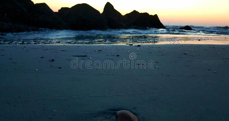 The jetties at dawn royalty free stock image