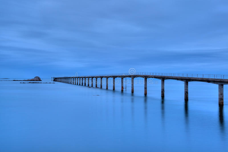 Download The jetty stock image. Image of cloud, empty, tide, rocks - 17195573