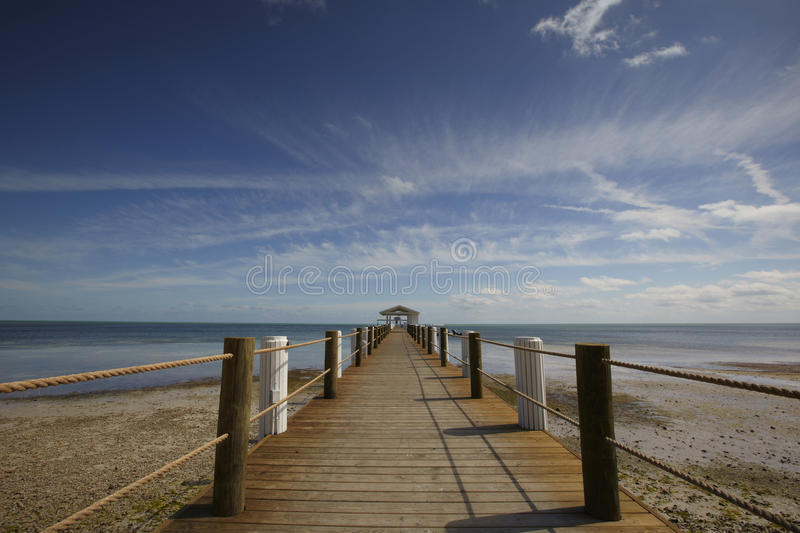 Jetty On The Beach Stock Images