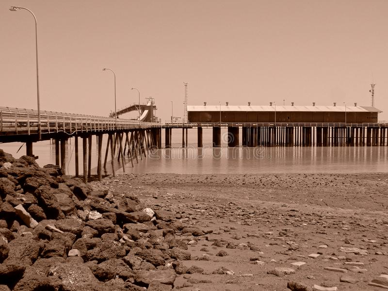 The Jetty In Derby, Western Australia, In Sepia Tone royalty free stock images