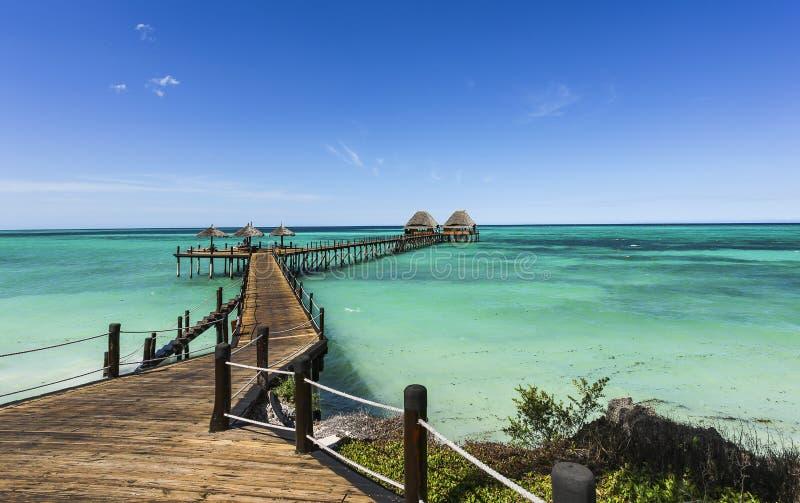 Jetty Lounge Bar on Zanzibar royalty free stock images