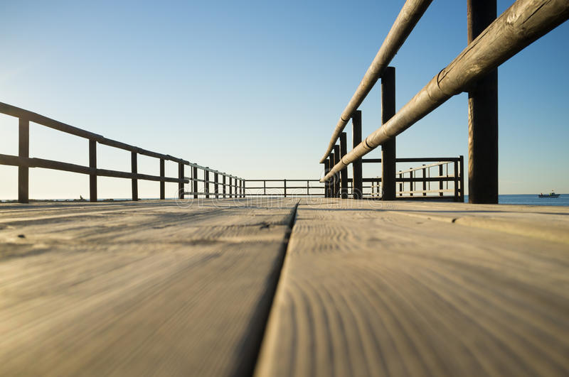 Jetty low angle viepoint royalty free stock image