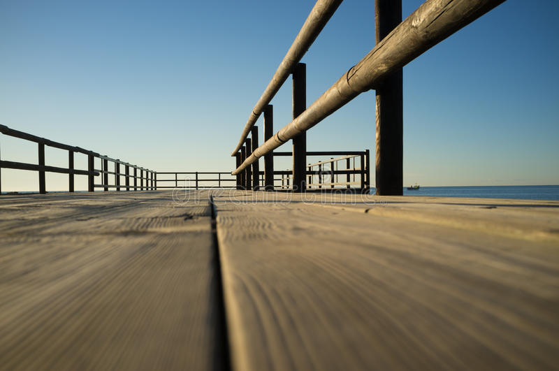 Jetty low angle viewpoint royalty free stock images