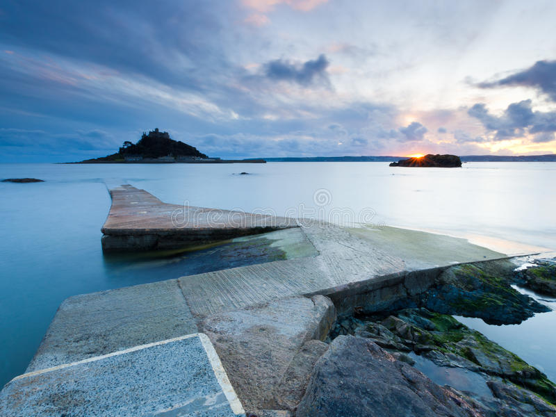 Download Jetty at Marazion stock image. Image of dusk, coastal - 19476091