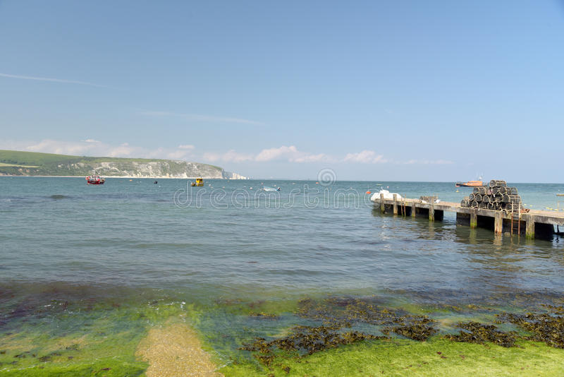 Jetty at Peveril Point, Swanage. Dorset royalty free stock images