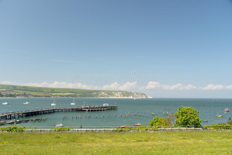 Jetty at Peveril Point, Swanage. Dorset royalty free stock image