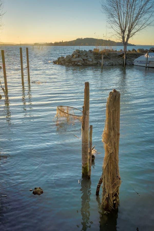 Jetty sieci rybackie i poczta zdjęcie royalty free