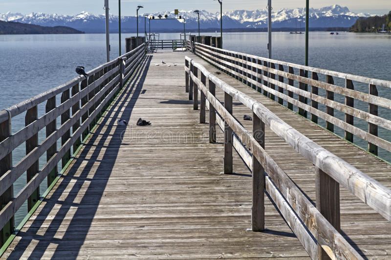 Download Jetty At Starnberger See Lake In Bavaria Stock Image - Image: 24791801