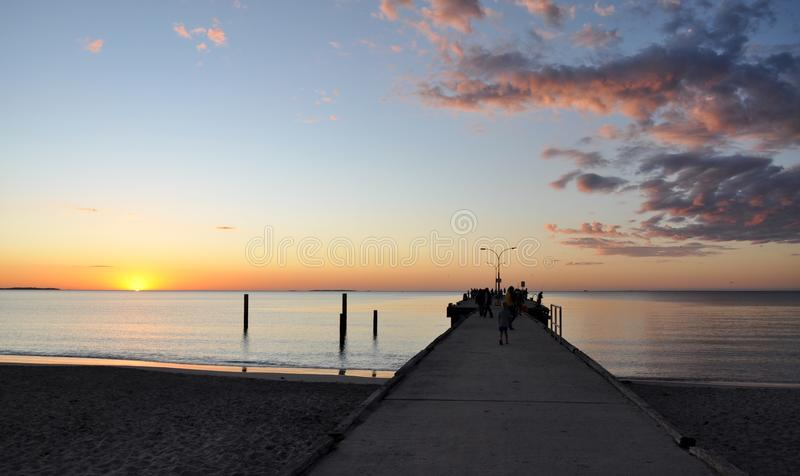 Jetty at Sunset: Indian Ocean, Western Australia stock photos