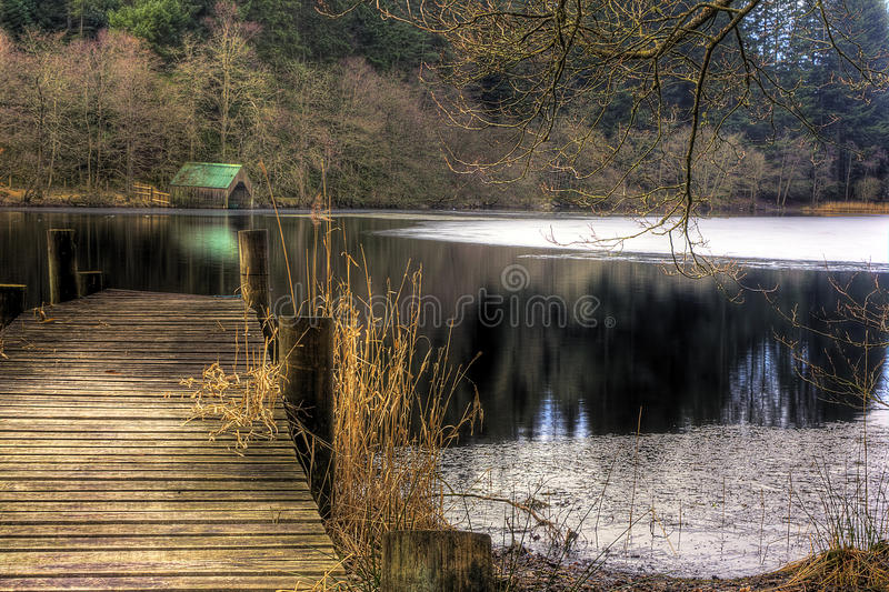 Download Jetty and water, loch Ard stock image. Image of boaring - 15195467