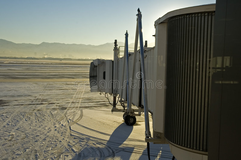 Jetway, Luchthaven, Utah royalty-vrije stock foto's