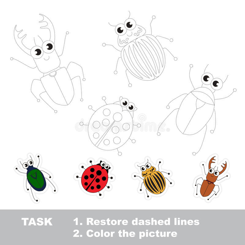 Jeu éducatif de trace de vecteur pour les enfants préscolaires illustration de vecteur