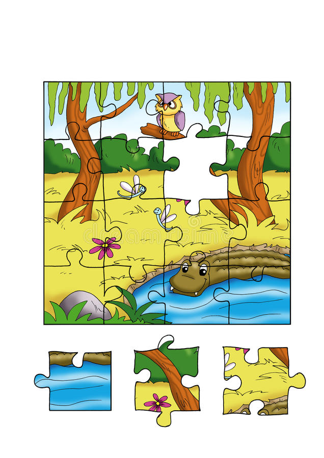 Jeu 2 - puzzle illustration stock