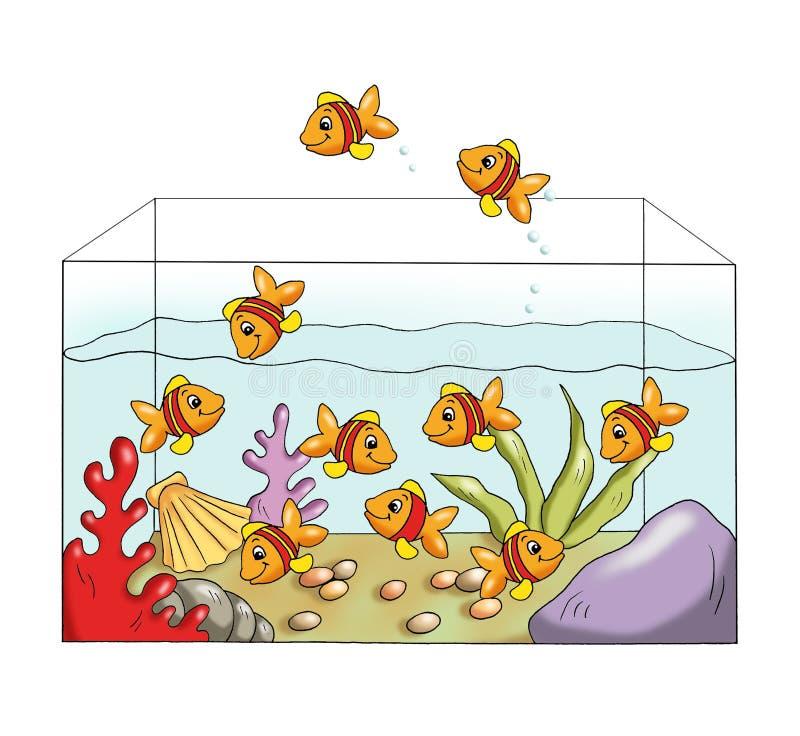 Jeu 5 - les poissons différents illustration de vecteur