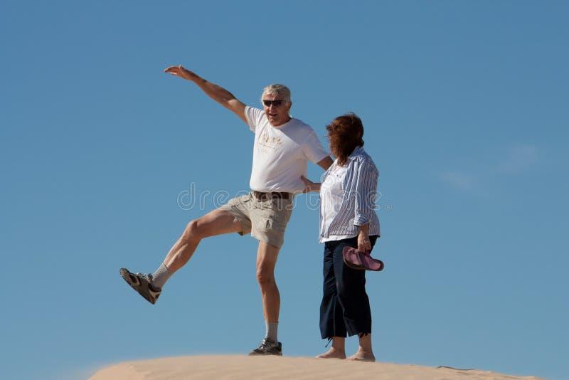 Jeu aux dunes images stock