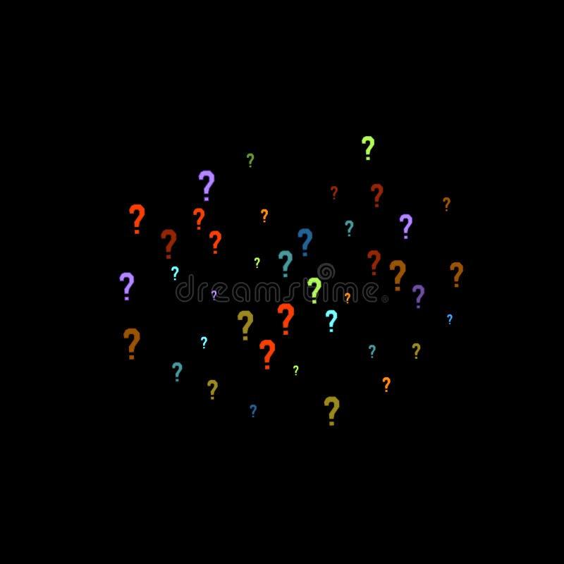 Jeu-concours de points d'interrogation, scrutin public de question de scrutin de doute illustration de vecteur