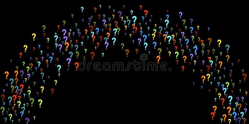 Jeu-concours de points d'interrogation, scrutin public de question de scrutin de doute illustration stock