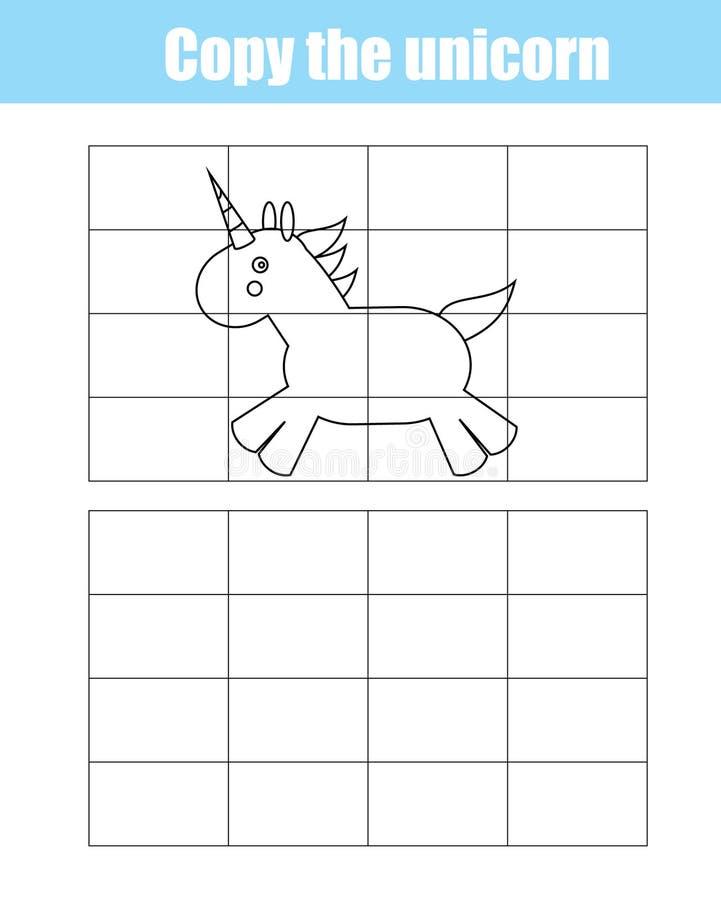 Jeu créatif éducatif d'enfants de copie de grille illustration de vecteur