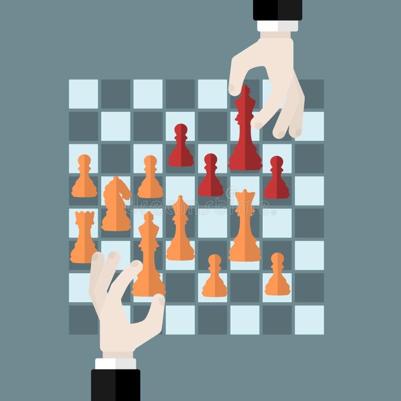 Jeu d'échecs illustration stock