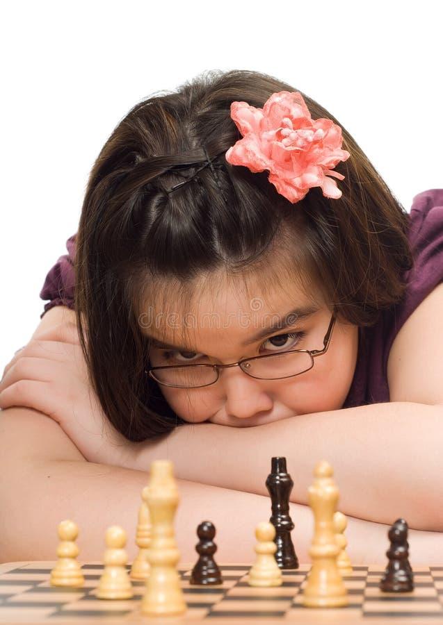 jeu d'enfant d'échecs image libre de droits