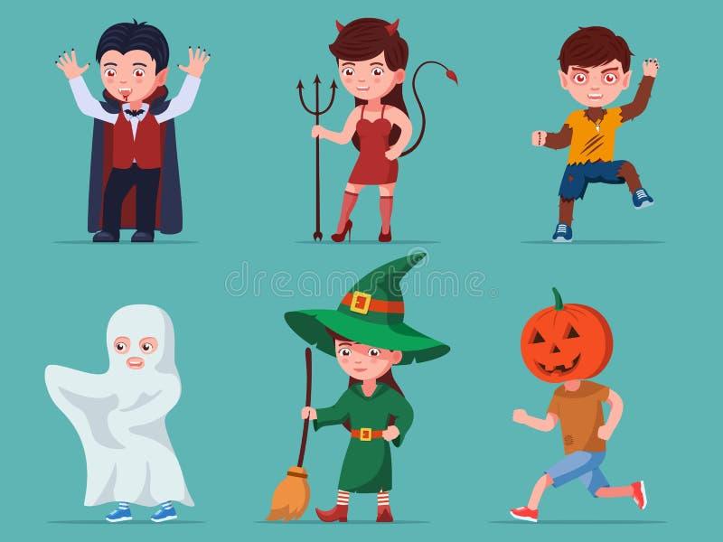 Jeu d'enfants caractères halloween photos libres de droits
