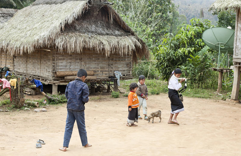 Jeu d'enfants du Laos photos libres de droits