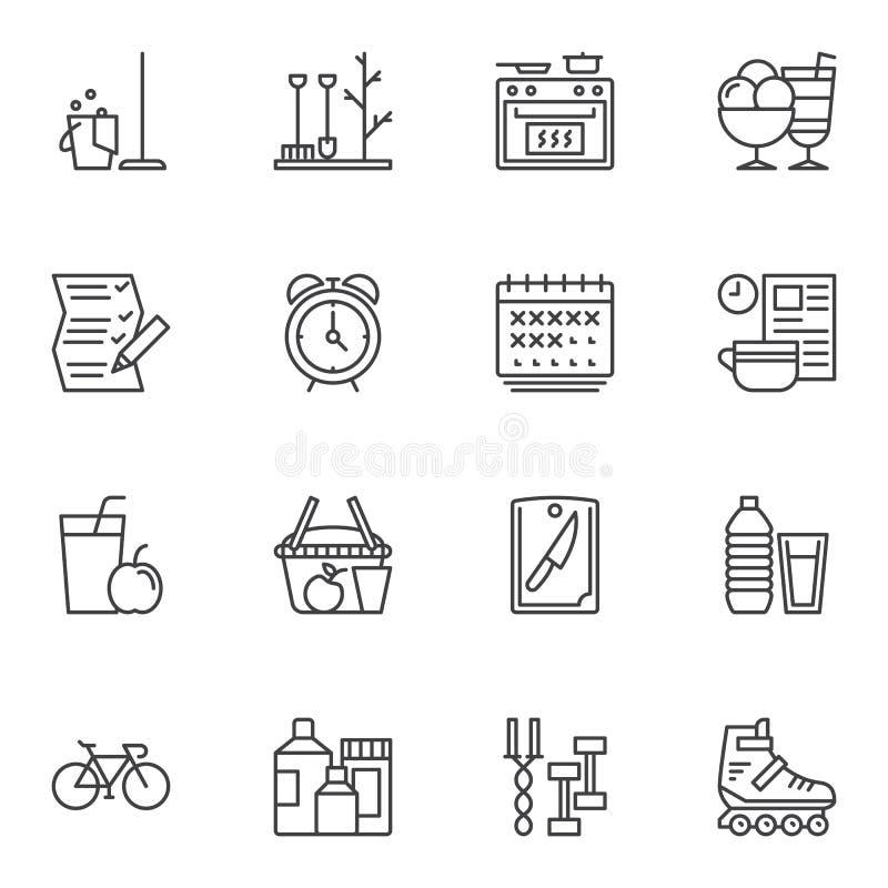 Jeu d'icônes de ligne Lifestyle illustration libre de droits