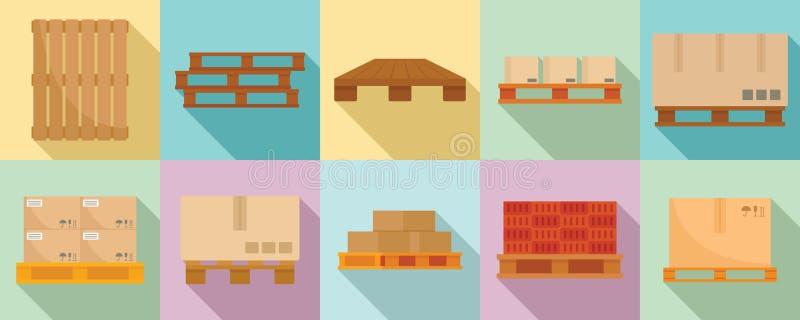 Jeu d'icônes de palette, style plat illustration libre de droits
