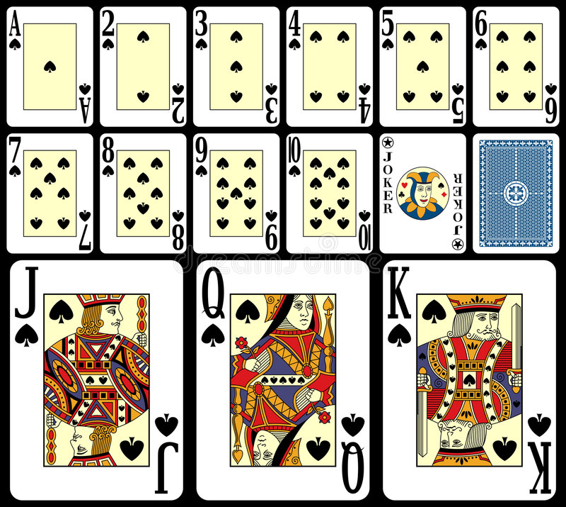 jeu de 4 cartes de vingt-et-un illustration libre de droits