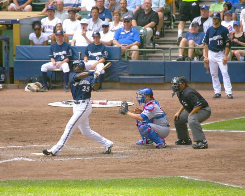 Jeu de baseball de Milwaukee Brewers image stock