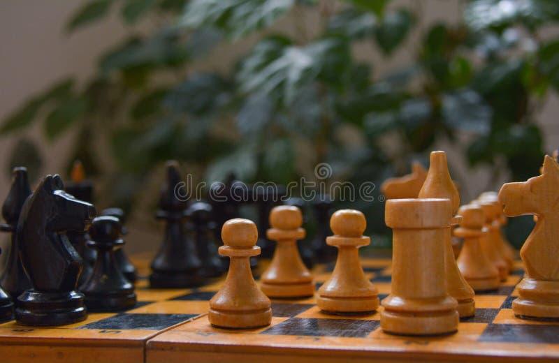 Jeu de boatd de vintage - échecs images stock
