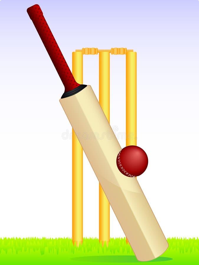 Jeu de cricket illustration stock