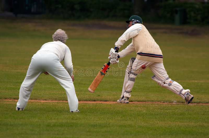 Jeu de cricket image stock