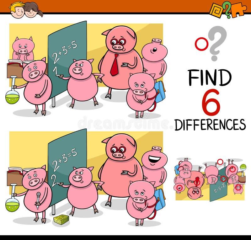 Jeu de différences pour des enfants illustration de vecteur