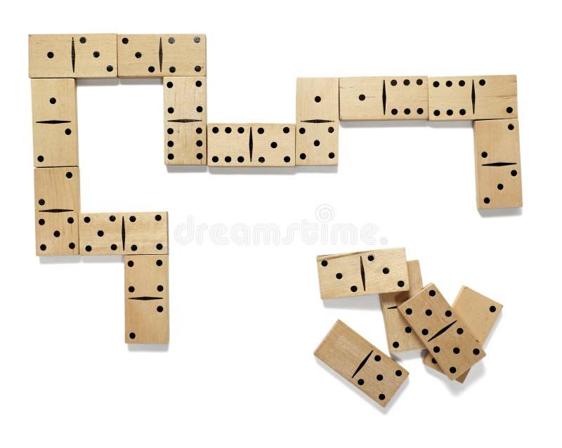 Jeu de domino photo libre de droits