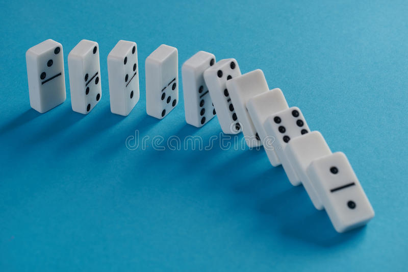 Jeu de domino photos stock