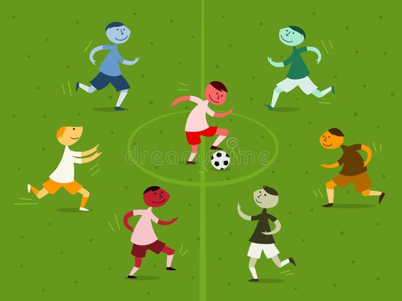 Jeu de football illustration de vecteur