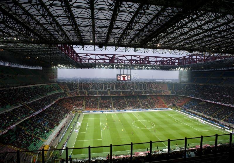 Jeu de football italien de championnat images libres de droits