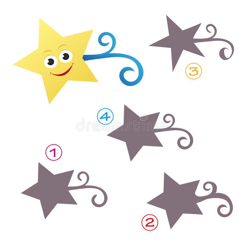 Jeu de forme - l'étoile illustration stock
