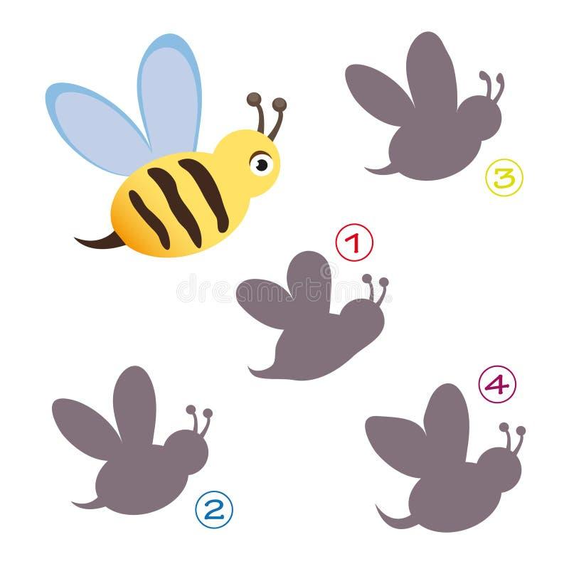 Jeu de forme - l'abeille illustration libre de droits