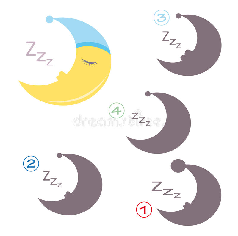 Jeu de forme - la lune illustration stock