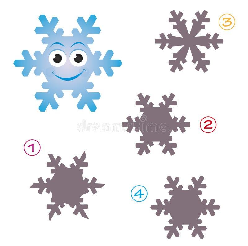 Jeu de forme - le flocon de neige illustration libre de droits