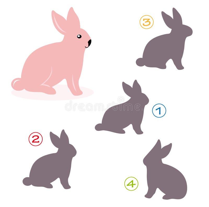 Jeu de forme - le lapin illustration de vecteur