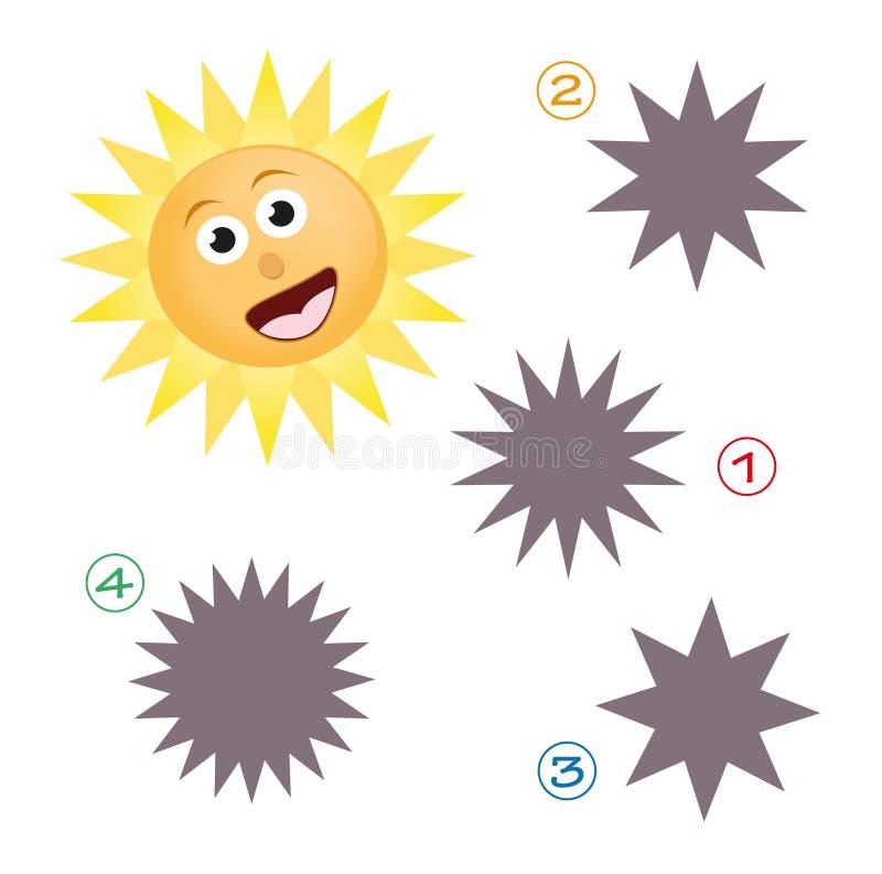 Jeu de forme - le soleil illustration stock