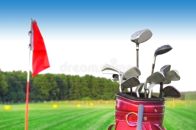 Jeu de golf. photo libre de droits