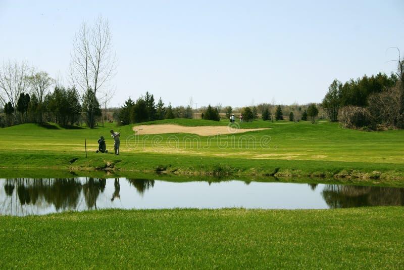 Download Jeu de golfeur photo stock. Image du arbre, vert, réflexion - 725728