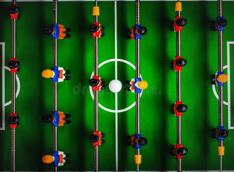 Jeu de joueur du football ou du football de Tableau photo stock