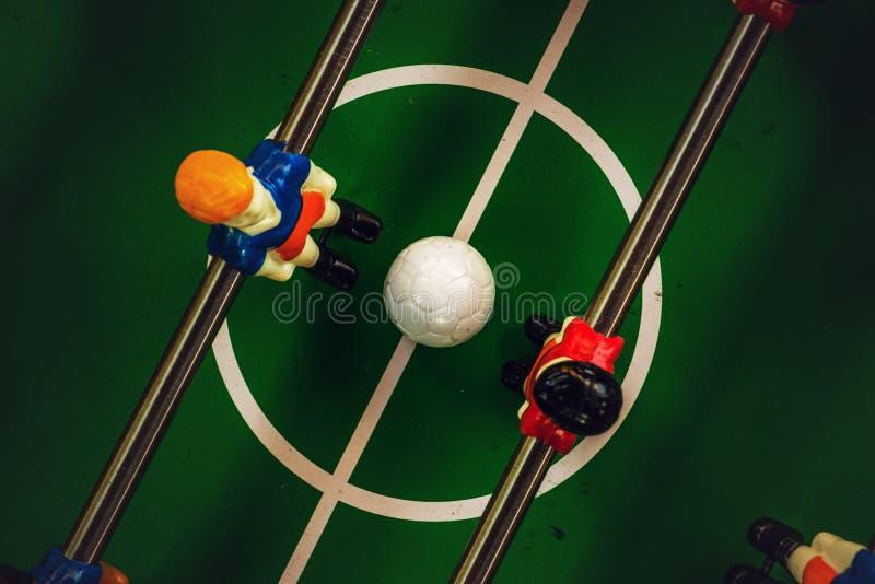 Jeu de joueur du football ou du football de Tableau photographie stock libre de droits